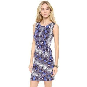 Diane von furstenberg New Della Blue snake dress